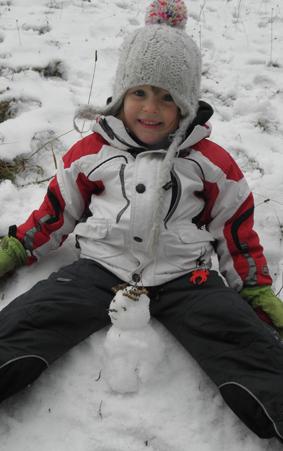Der Schneemann und ich