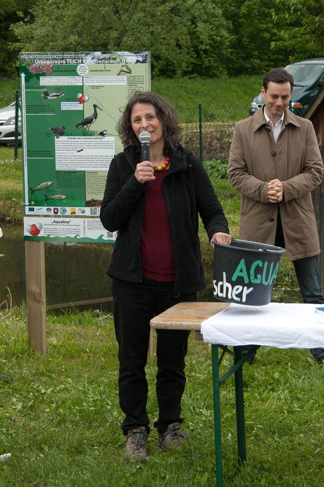 Angelika Riegler BSc, Geographin, Leiterin der Umweltbildungsplattform AGUAStud
