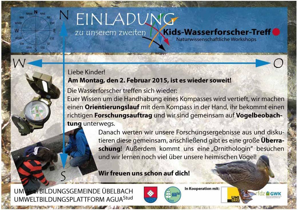 Einladung zum 2. Wasserforscher-Treff
