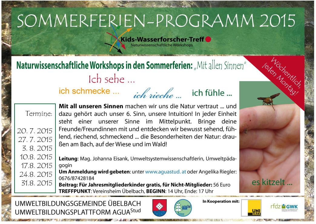 Sommerferienprogramm 2015 - naturwissenschafltiche Workshops