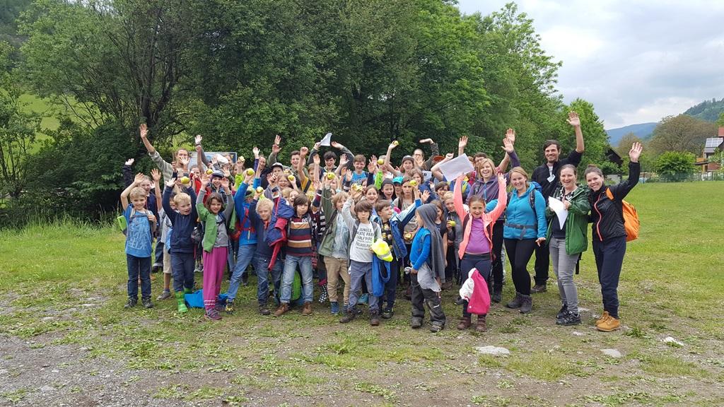Reformpädagogische Schule Sonnenhaus - 48 Schüler am Wasserthemenweg